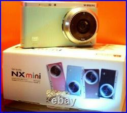 Samsung NX Mini 20.9MP Digital Camera Mint color (ED 9mm Lenses) Box