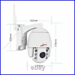 Security Camera System Wireless 2/5MP 2Way Audio Outdoor 20Zoom PTZ 64G Talk IR