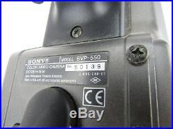 Sony BVP-550 Digital 1000 Color Video Camera with Sony CA-550 Camera Adaptor