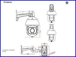 Super Long Range 8MP 4K UHD 120X Zoom, 300m IR, 8 PTZ Camera, Mic, 500m Laser, IP66