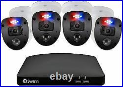 Swann 8 4680 8 Channel 1TB DVR HD 4 x 1080SL Heat Motion Sensing Camera CCTV Kit