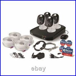 Swann DVR8 4680 8 Channel DVR 1TB HDD 4x 1080MSFB Warning Light Cameras CCTV Kit