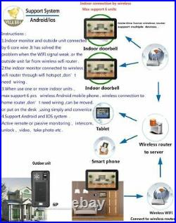 Wall Mounting Wired Fingerprints Recognition Doorbells Intercom System Door Bell