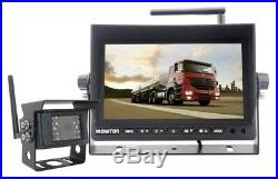 Wireless Backup Camera System 7' Digital LCD Monitor 800x400 TFT Colored Screen