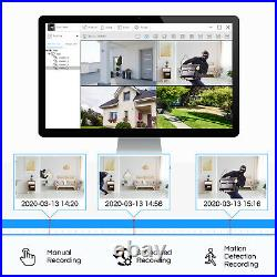 ZOSI CCTV Home Security System 16CH HDMI DVR 1080P Surveillance Camera Dome IP66
