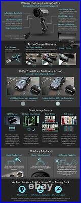 Zxtech 8x IR Metal HD Cameras 16 Channel Fusion Digital Recorder DIY CCTV System